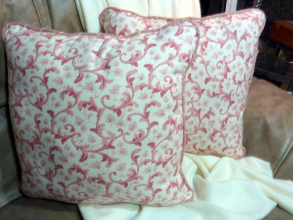 Covington fabric - pillow set of 2 - corded edge - Decorative Pillows - accent pillows - Julie Butler Creations