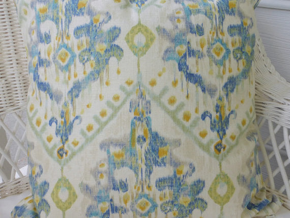 Ikat Accent Pillow Cover -Swavelle Mill Creek Izza Ikat - linen Rayon blend - Ikat pillow cover - Julie Butler Creations