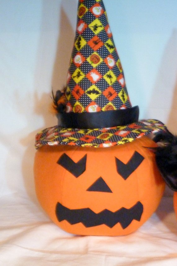 Halloween Jack-o-lantern - centerpiece - large pumpkin - Halloween Decoration - Julie Butler Creations