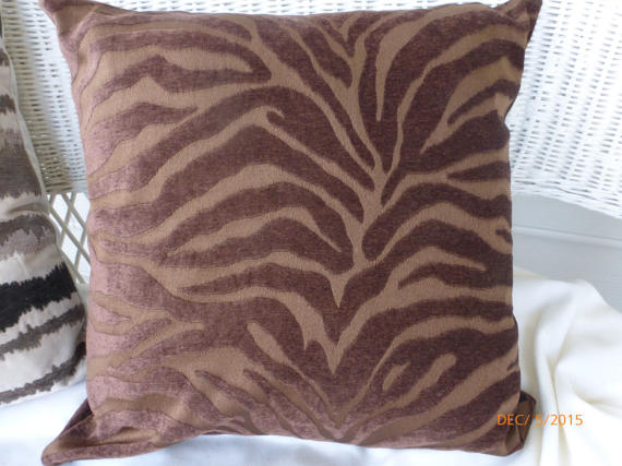 Chenille Animal Print Pillow Covers - 20x20 or 18x18 - Accent Pillow covers - Julie Butler Creations