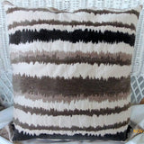 Chenille Ikat Pillow Covers - Chenille Designer fabric - pillows - 20x20 or 18x18 - Brown and Ivory - Julie Butler Creations