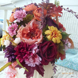 Pumpkin centerpiece - Fall centerpiece - Autumn Floral decoration - Thanksgiving decorationss - Julie Butler Creations