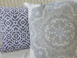 Waverly Inspirations collection - shades of Charcoal Grey and white - Decorative pillow cover