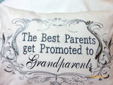 Grandparents Pillow cover - Parents pillow - Personalized gifts - Embroidered Grandparents pillow - Julie Butler Creations