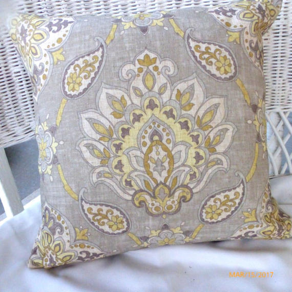 Taupe Ikat Pillow Cover - accent pillow - Pillow Covers - throw pillows