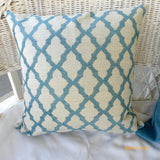 Chenille Pillow Covers - Decorative throw pillow - Peacock Blue pillows - Sofa Pillows - Julie Butler Creations