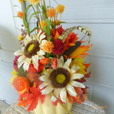 Pumpkin centerpiece - sunflower centerpiece - Thanksgiving decorations- floral arrangement - Julie Butler Creations