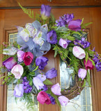 Spring Tulip Wreath - wreaths - Summer wreath - Front door decor - door wreath - Julie Butler Creations