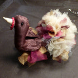 Turkey Centerpiece - Stuffed Turkey - Organza and Tulle turkey - Thanksgiving day turkey