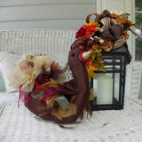 Turkey Centerpiece - Stuffed Turkey - Organza and Tulle turkey - Thanksgiving day turkey - Julie Butler Creations