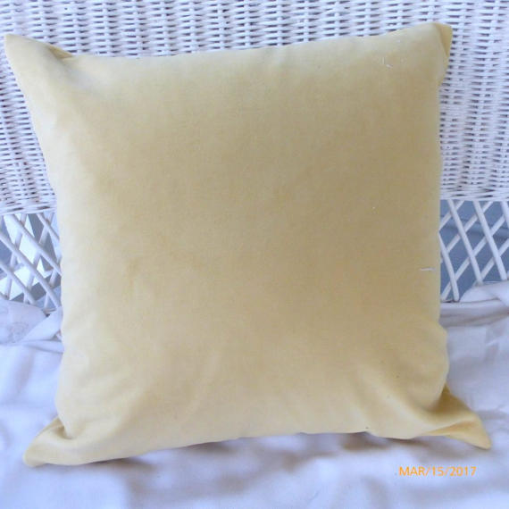 Gold Velvet pillow cover - Pillow Covers - velvet pillow - Velvet upholstery Fabric - Julie Butler Creations