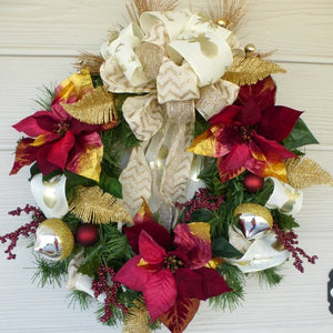 Burgundy Christmas Wreath - Christmas Decorations - Wreaths - Julie Butler Creations