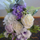 Wedding Arch Flowers - Lavender, Purple and White Wedding swag - Wedding Arbor Decorations - Julie Butler Creations