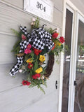 Summer door wreath - Front door decor - All Season Wreaths Home decor - porch decoration - Julie Butler Creations