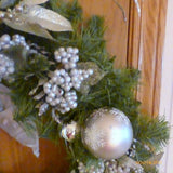 Christmas Wreaths - Platinum Wreath - Christmas Decorations - Julie Butler Creations