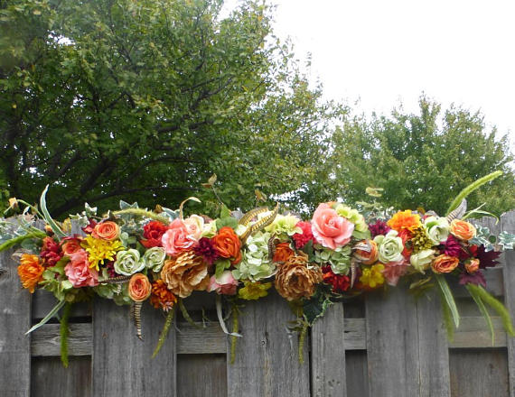 Fall Wedding Arch Swag - Wedding Arch Decorations - Autumn Wedding Arch - Fall Wedding decorations - Julie Butler Creations