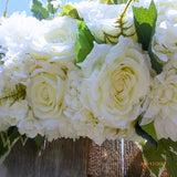 White Rose Arbor swag - White Wedding Flowers - Wedding Arch Decorations - Wedding decorations - Julie Butler Creations