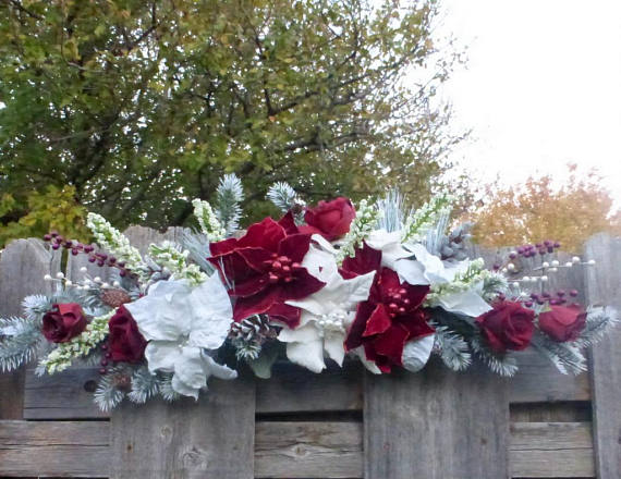 Winter Wedding Arch decorations - Winter Wedding decorations - Winter Wedding flowers