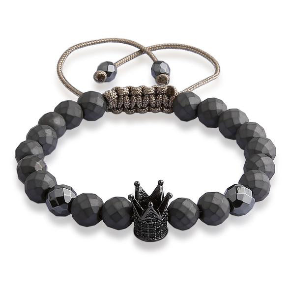 Stone Bead Bracelet & Crown