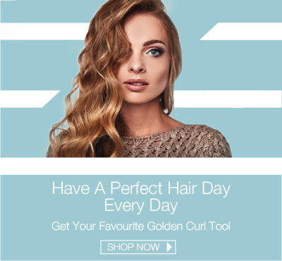 Professional And Luxury Hair Styling Tools Golden Curl