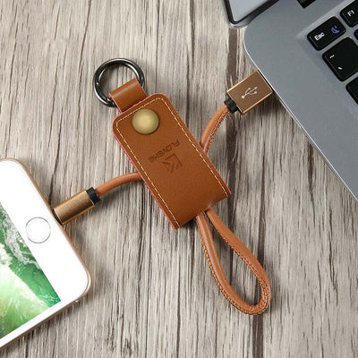 Leather Key Chain iOS Charger