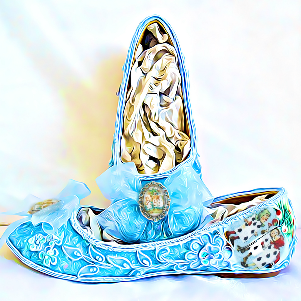Alice in 1865 Something Blue Lace Flats