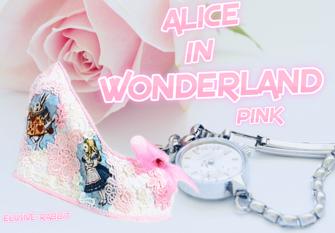 Pink Ivory Alice in 1865 Lace Heels