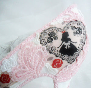Alice in 1865 Pink Lace - Rear