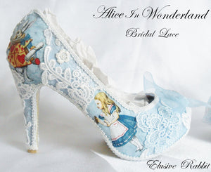 Alice in 1865 Something Blue Lace Heels - Right Side