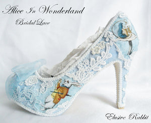 Alice in 1865 Something Blue Lace Heels- Left View