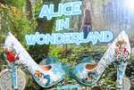 Alice in 1865 Something Blue Lace Heels Alternate
