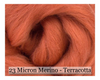 Terracotta -  Merino Wool Top - 23 Micron