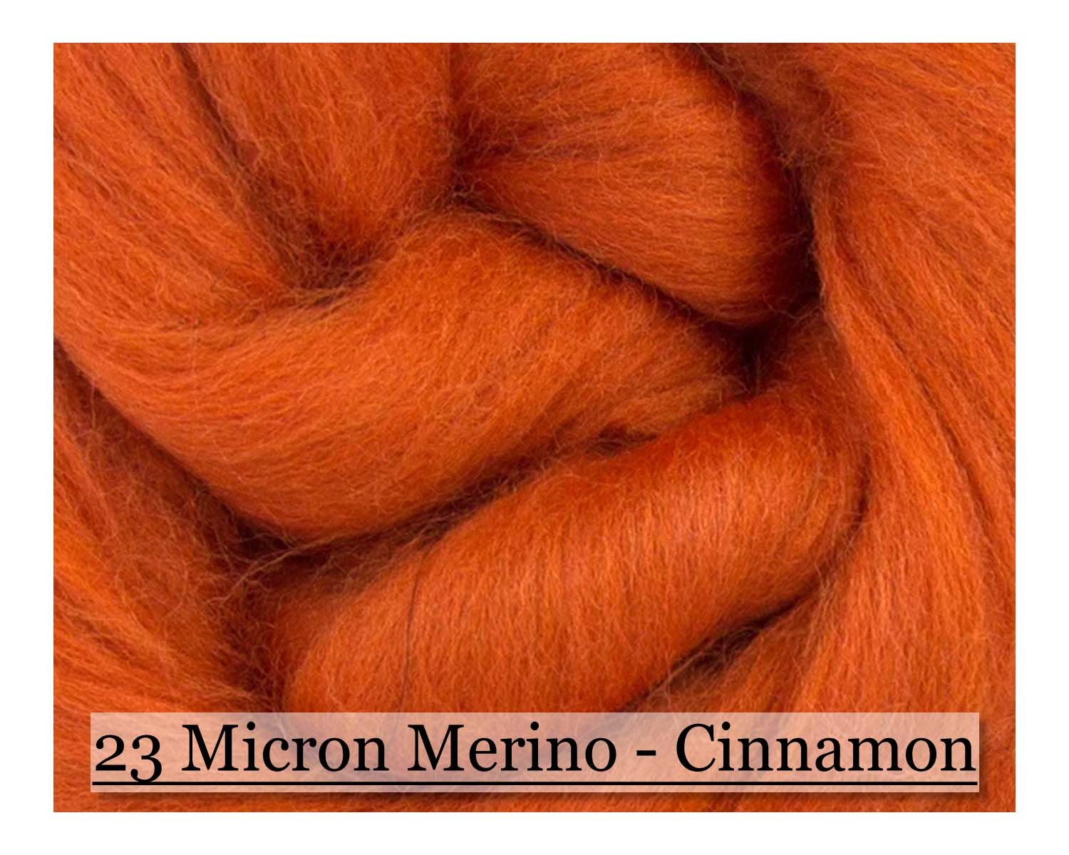 Cinnamon -  Merino Wool Top - 23 Micron