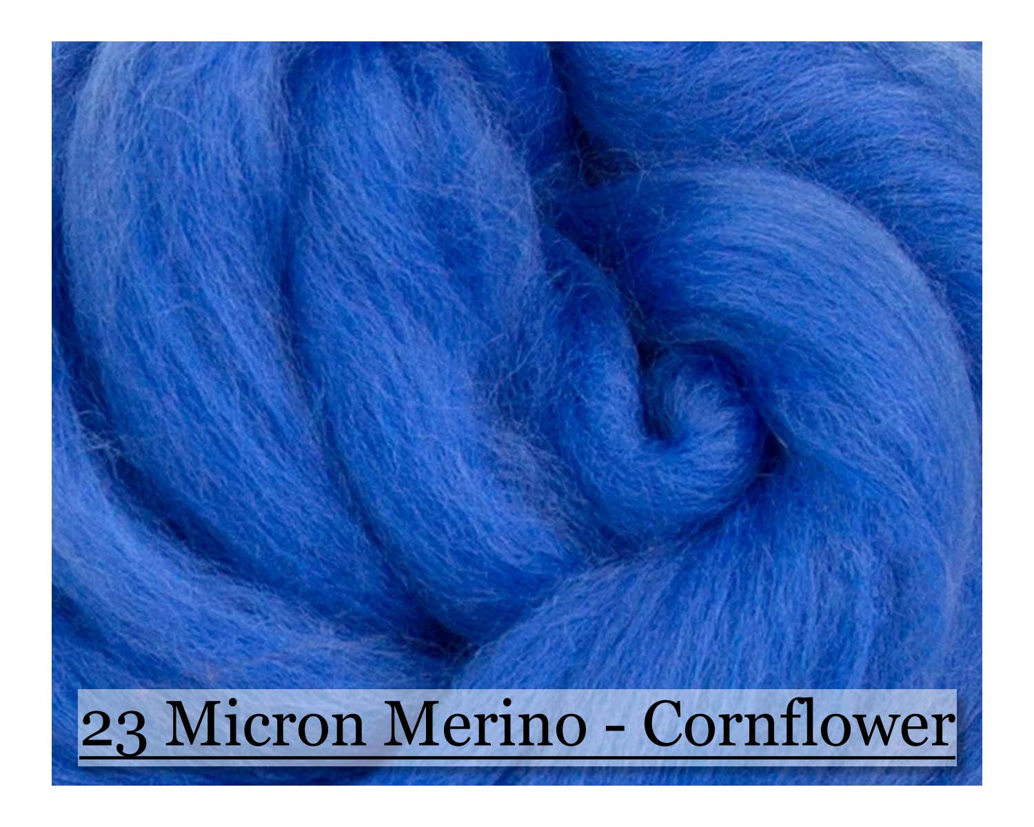 CornFlower -  Merino Wool Top - 23 Micron