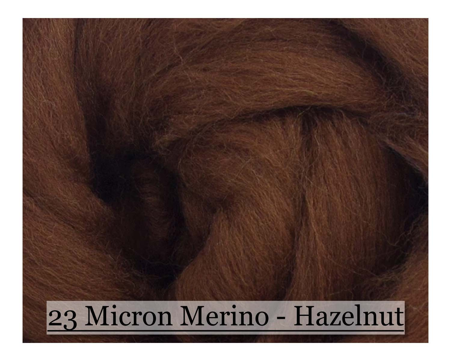 Hazelnut -  Merino Wool Top - 23 Micron