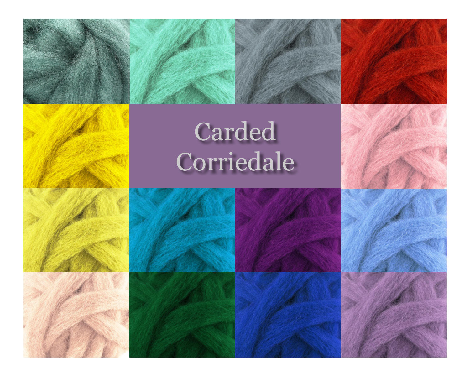 Teal - Corriedale Wool Roving - Corriedale Wool Roving - 16oz