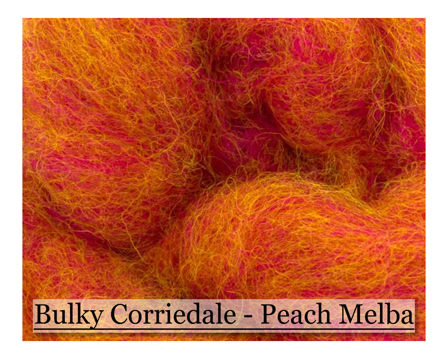 Peach Melba - Corriedale Wool