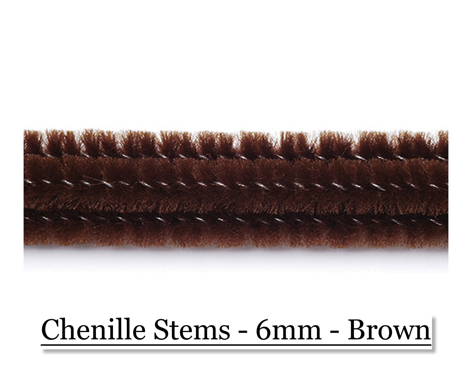 Chenille Stems - 6mm - Brown