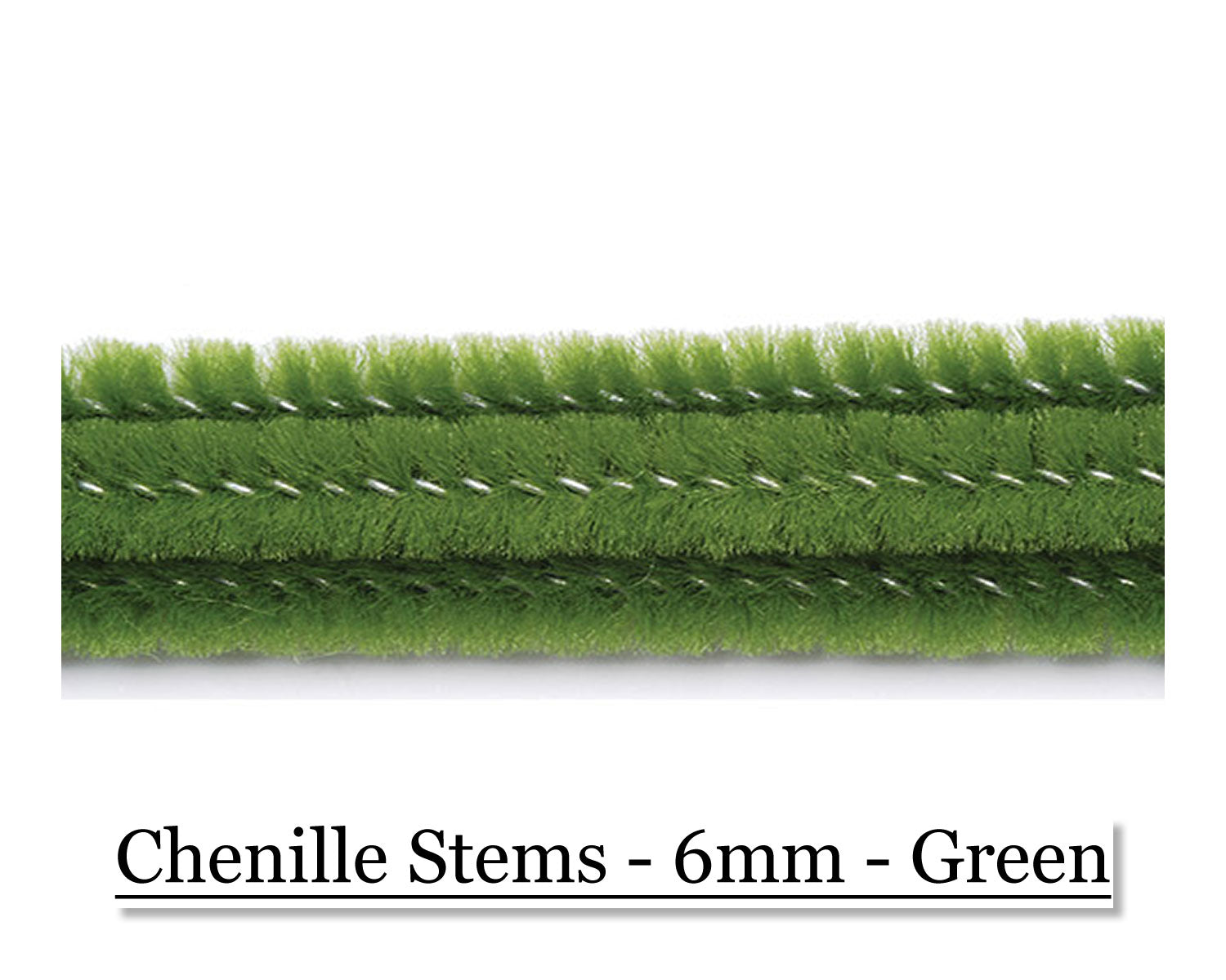 Chenille Stems - 6mm - Green