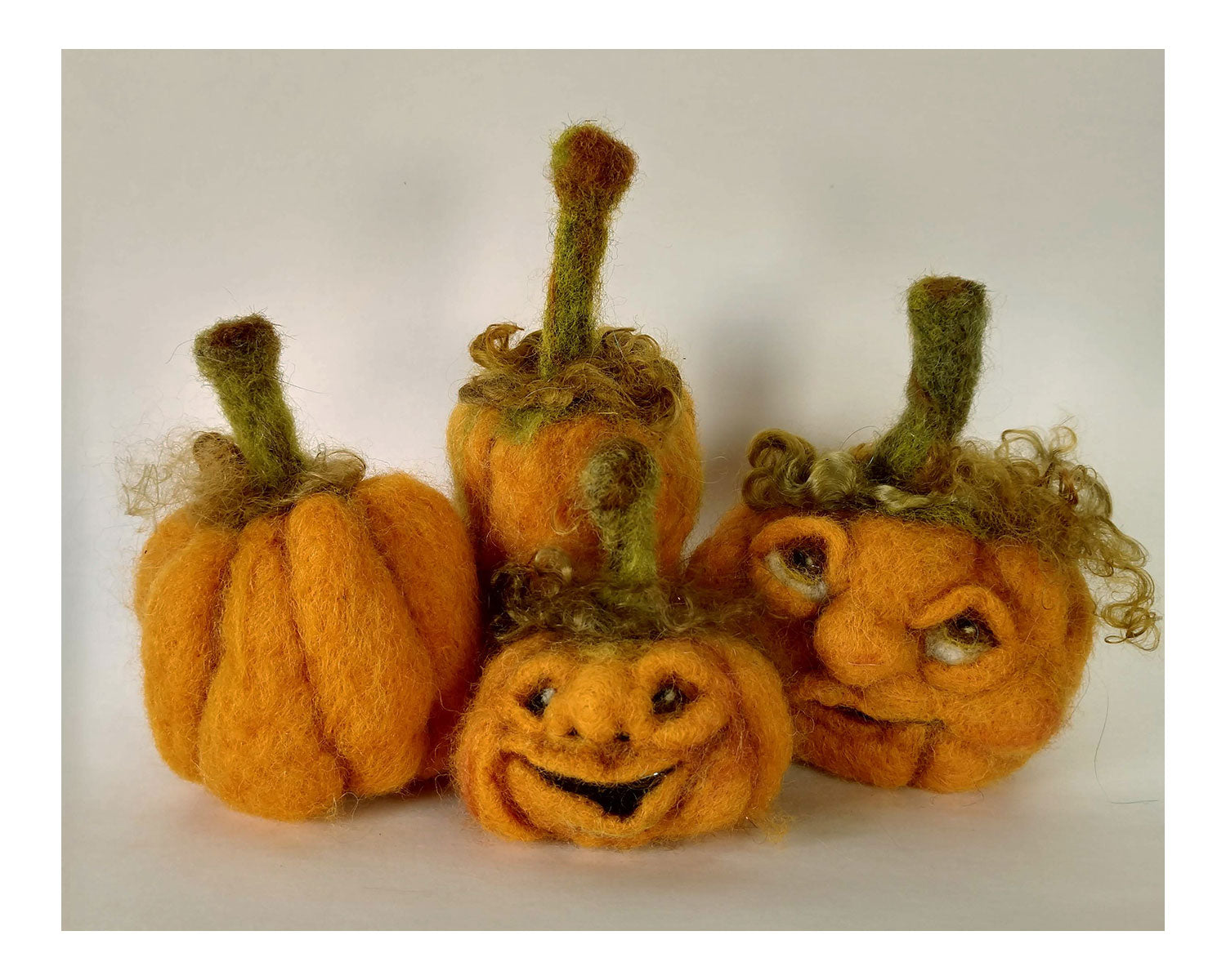 Green Pumpkin Needle Felting Refill Kit