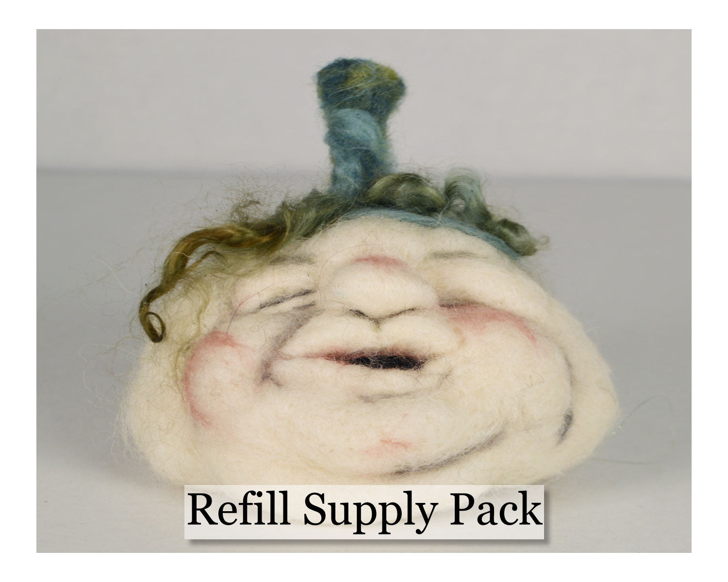 White Face Pumpkin Needle Felting Refill Supply Kit