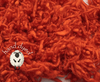 Blazing Orange - Wool Slubs - Hand Dyed- 1 Ounce