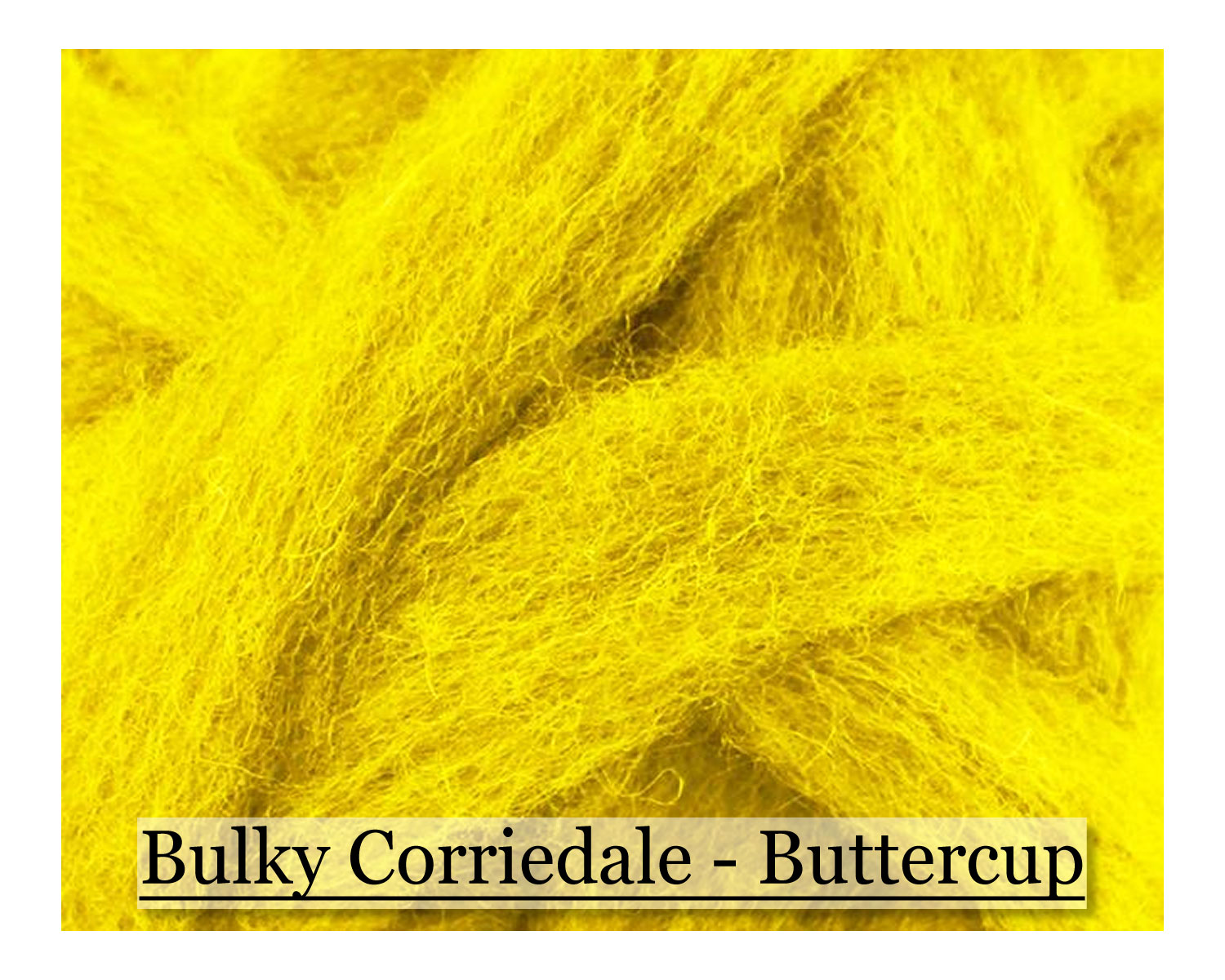 Buttercup - Corriedale Wool Roving - Corriedale Wool Sliver - 16oz