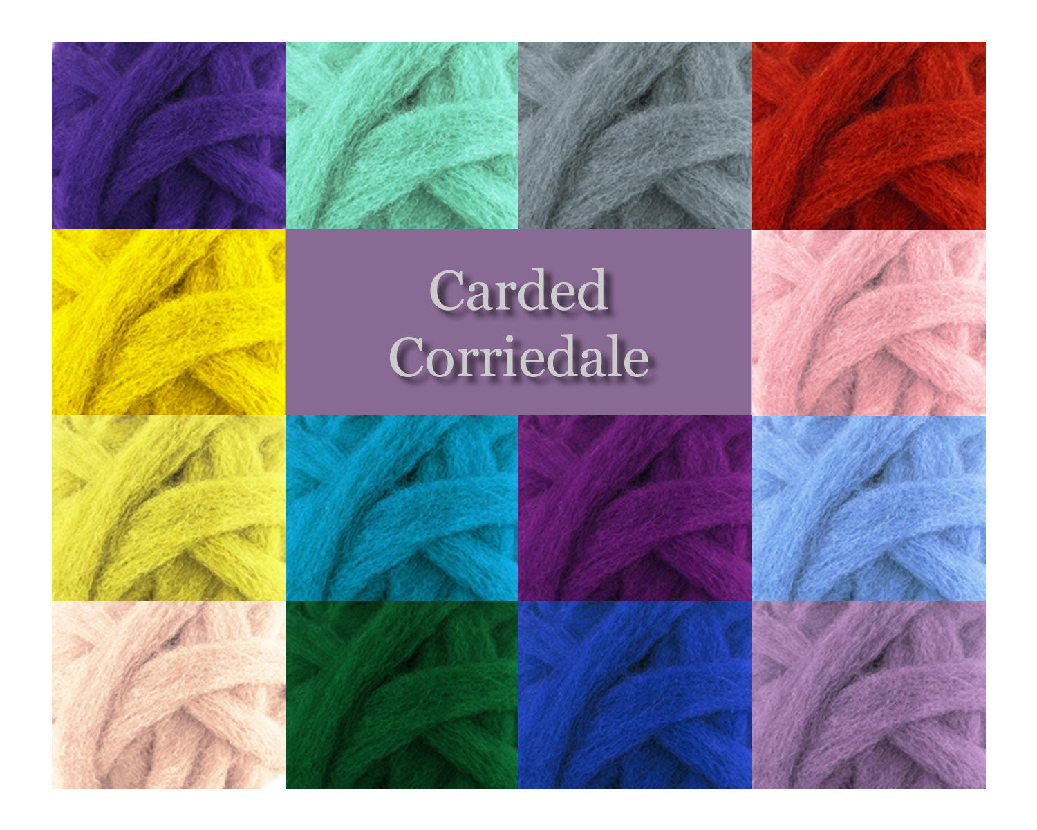 White - Corriedale Wool Roving - Corriedale Wool Sliver