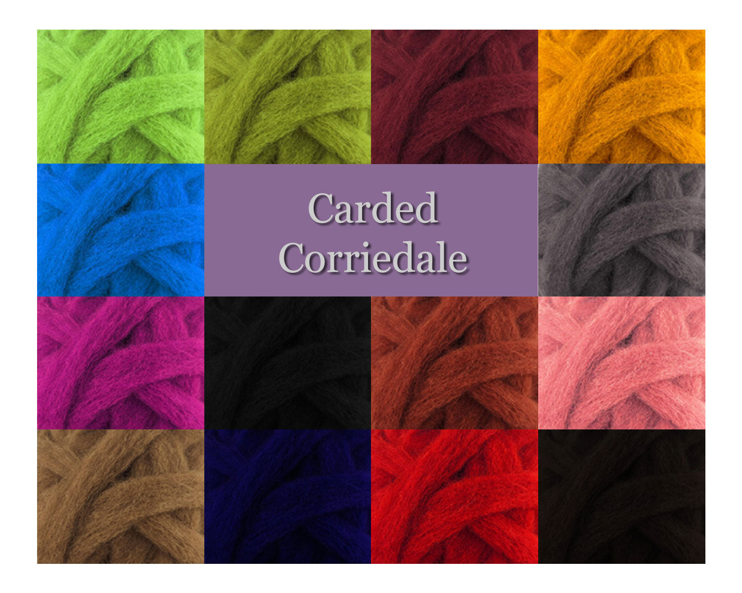 Cerulean - Corriedale Wool Roving - Corriedale Wool Sliver - 16oz
