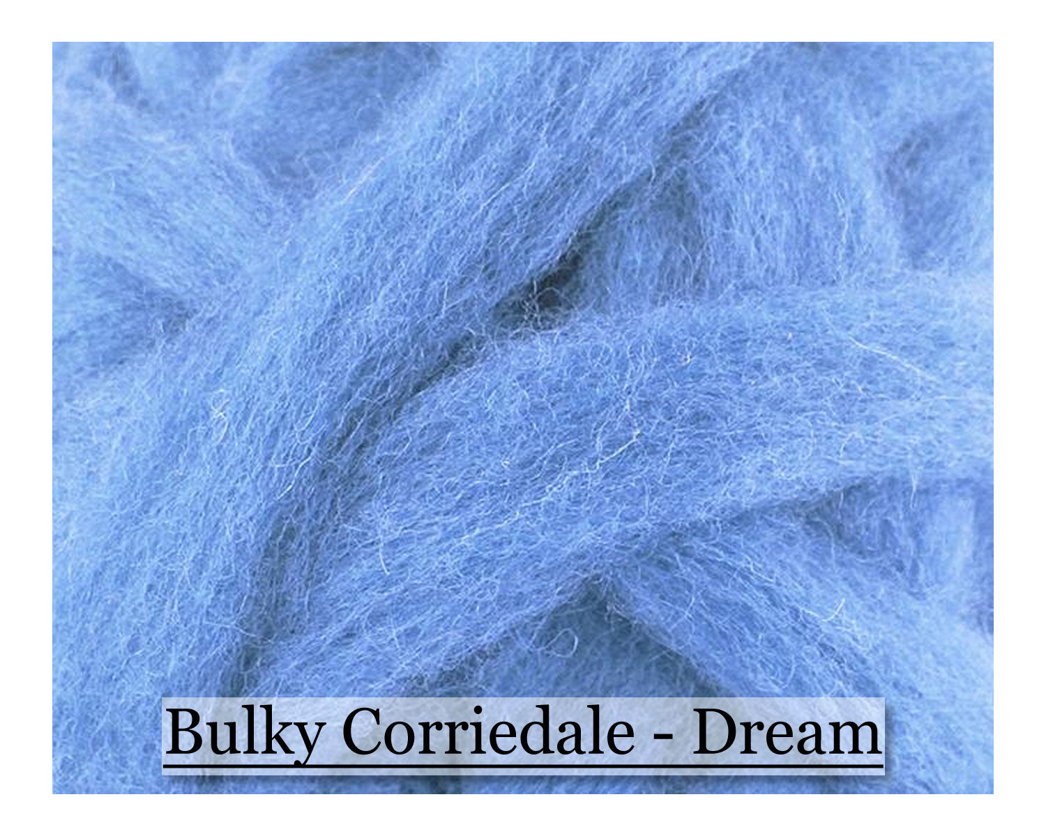 Dream - Corriedale Wool Roving - Corriedale Wool Sliver