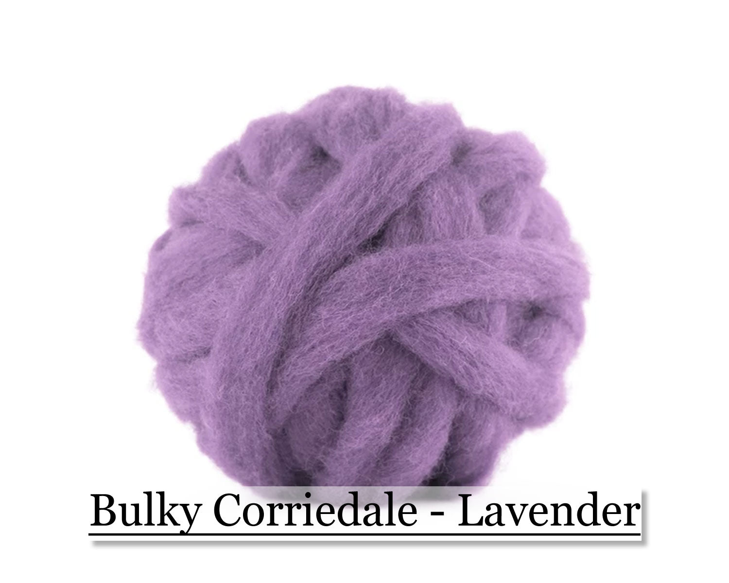Lavender - Corriedale Wool Roving - Corriedale Wool Sliver