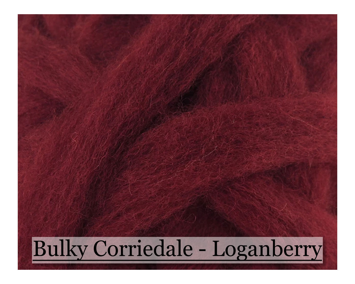 Loganberry - Corriedale Wool Roving - Corriedale Wool Sliver - 16oz