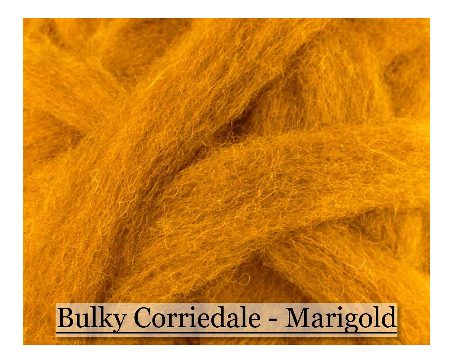 Marigold - Corriedale Wool Roving - Corriedale Wool Sliver