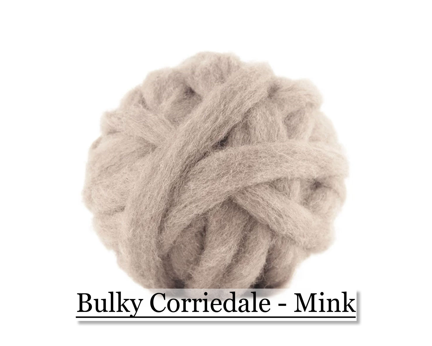 Mink - Corriedale Wool Roving - Corriedale Wool Sliver